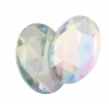 Acrylic 25x18mm Oval Facet Crystal Aurora Borealis